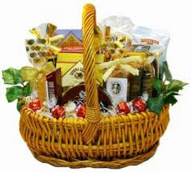 Gourmet Snack Basket from Kinsch Village Florist, flower shop in Palatine, IL