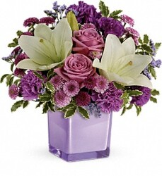 TF TEV45-1 Pleasing Purple Bouquet from Kinsch Village Florist, flower shop in Palatine, IL