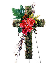 Living Cross Easel from Kinsch Village Florist, flower shop in Palatine, IL