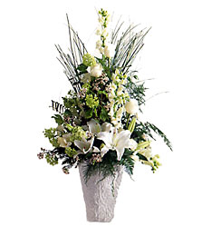 Weeping lilies Arrangement from Kinsch Village Florist, flower shop in Palatine, IL