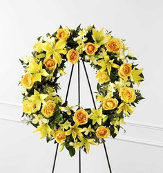 Ring of Friendship Wreath from Kinsch Village Florist, flower shop in Palatine, IL