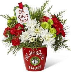 The FTD I'll Jingle to That Bouquet by Hallmark from Kinsch Village Florist, flower shop in Palatine, IL