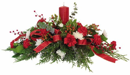 Festive Holiday Centerpiece  from Kinsch Village Florist, flower shop in Palatine, IL