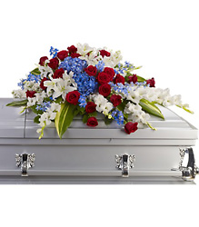 Distinguished Service Casket Spray from Kinsch Village Florist, flower shop in Palatine, IL