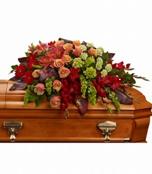 A Fond Farewell Casket Spray from Kinsch Village Florist, flower shop in Palatine, IL