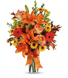 Burst of Autumn Deluxe from Kinsch Village Florist, flower shop in Palatine, IL