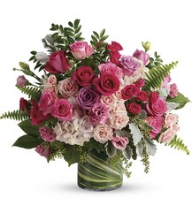 Haute Pink Bouquet from Kinsch Village Florist, flower shop in Palatine, IL