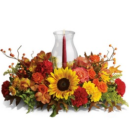 Delight-fall Centerpiece from Kinsch Village Florist, flower shop in Palatine, IL